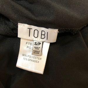 Tobi Tops - Tobi black v neck halter open back tank top